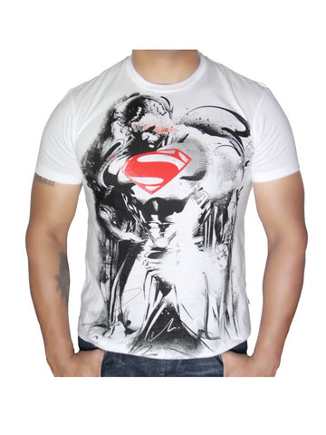 Man of Steel white sketch T-Shirt - Planet Superhero