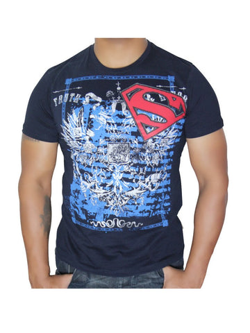 Superman Navy T-shirt - Planet Superhero