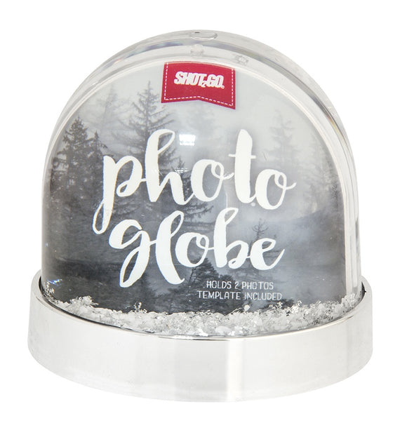 SHOT2GO PHOTO GLITTER GLOBE - SILVER