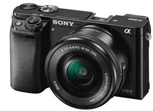 Sony Alpha A6000 24.3MP APS-C M/less Cam w/16-50mm Lens