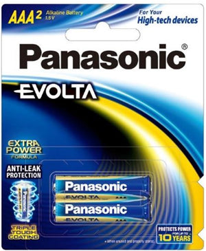 Panasonic Evolta AAA Alkaline Battery 2 Pack