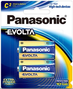 Panasonic Evolta C Alkaline Battery 2 Pack
