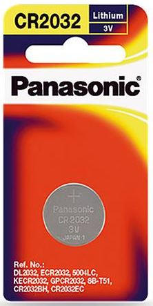 Panasonic Lithium 3V Coin Battery CR2032 1 Pack