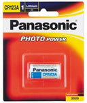 Panasonic CR-123A Photo Lithium 3V Camera Battery 1 Pack