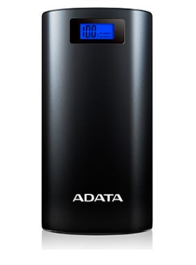 ADATA Power Bank P20000D LCD - 20,000mAh with LED Flashlight