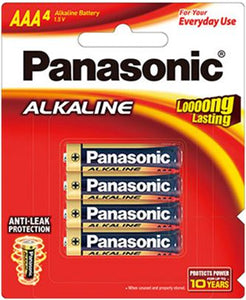 Panasonic AAA Alkaline Battery 4 Pack