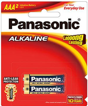 Panasonic AAA Alkaline Battery 2 Pack