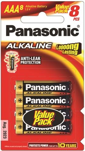 Panasonic AAA Alkaline Battery 8 Pack