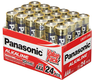 Panasonic AAA Alkaline Battery 24 Pack