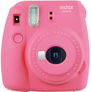 Fujifilm Instax Mini 9 Camera Flamingo Pink w/10 Pack Film