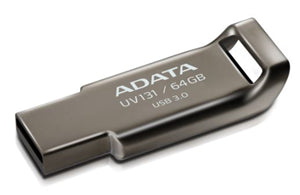 ADATA UV131 Classic USB 3.1 64GB Chromium Durable Grey Flash Drive
