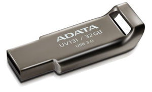ADATA UV131 Classic USB 3.1 32GB Chromium Durable Grey Flash Drive