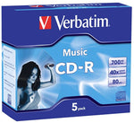 Verbatim CD-R 80Min Audio 40x 5 Pack with Jewel Cases