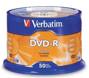 Verbatim DVD-R 4.7GB 16x 50 Pack on Spindle