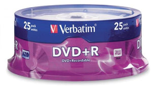 Verbatim DVD+R 4.7GB 16x 25 Pack on Spindle