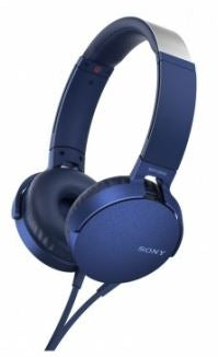 Sony MDRXB550APL Extra Bass Headphones -  Overhead Style Blue