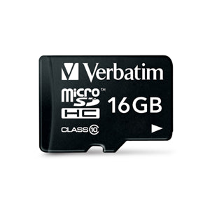 Verbatim Premium microSDHC UHS-I Class 10 Card with Adapter 16GB