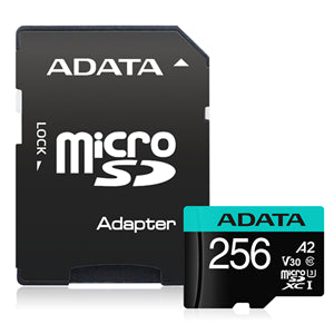 ADATA Premier Pro microSDHC UHS-I U3 A2 V30 Card with Adapter 256GB