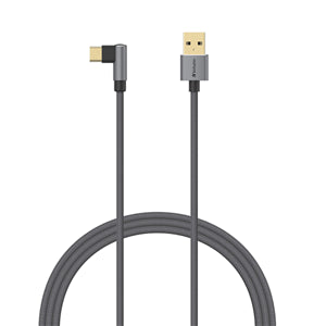 Verbatim Sync & Charge USB Type-C to Type A L-Shaped Cable 120cm Grey