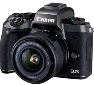 Canon EOS M50 24.2MP Mirrorless Kit (EF-M 15-45 IS+55-200mm) Camera