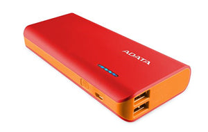 ADATA PT100 10000mAh Powerbank with Flashlight - Red/Orange