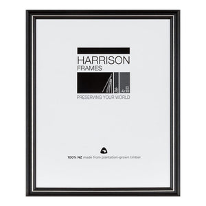 HARRISON FRAMES 10X8 1028 BLK/SILVER READY MADE FRAME