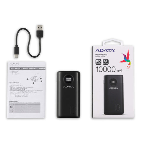 Adata P1000QCD 10000mAh Quick Charge Power Bank