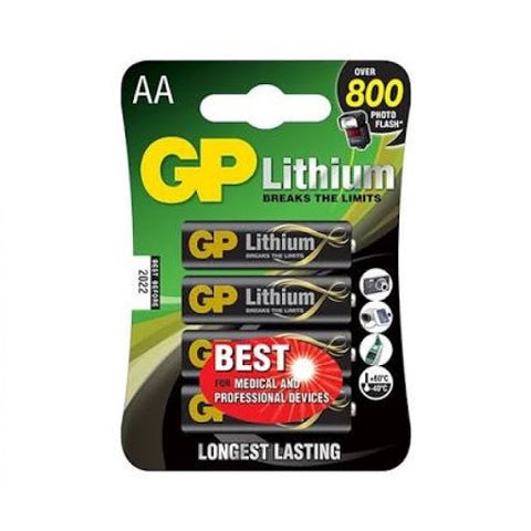 GP AA LITHIUM 4PK BATTERY