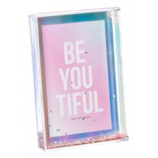 Shot2Go Photo Block Frame 6x4 Iridescent Glitter