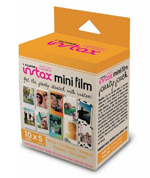 Fujifilm Instax Mini Film 50 Pack Party