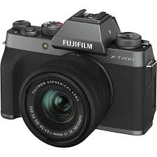 Fujifilm X-T200 24.2MP APS-C X Mount Camera w/ XC 15-45 Dark Silver
