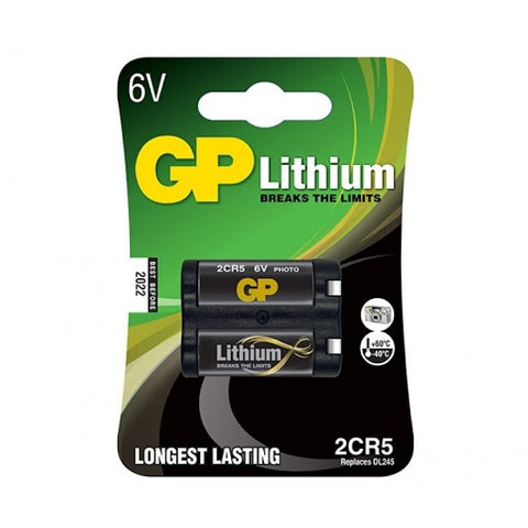 GP 2CR5 Lithium battery 1pk