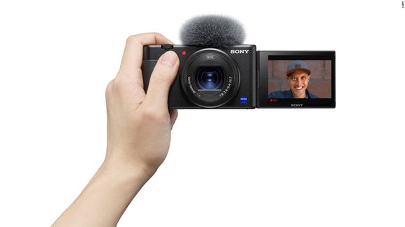 Sony ZV1 Vlog camera with GPVP2BT bluetooth grip