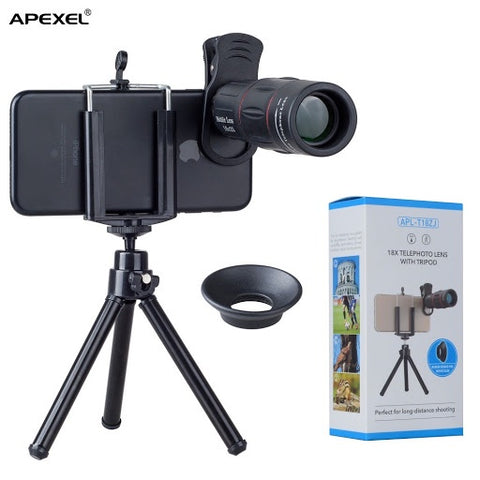 Apexel 18x Telephoto Lens Kit