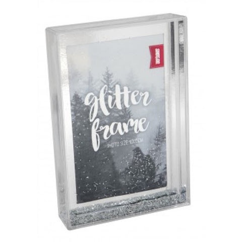 Shot2Go Photo Block Frame 6x4 Silver Glitter
