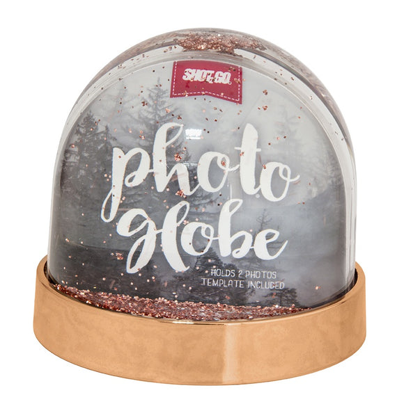 SHOT2GO PHOTO GLITTER GLOBE-ROSE GOLD