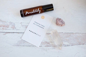 Pausibility Essential Oil Blend [with Gift Pouch & Crystal]