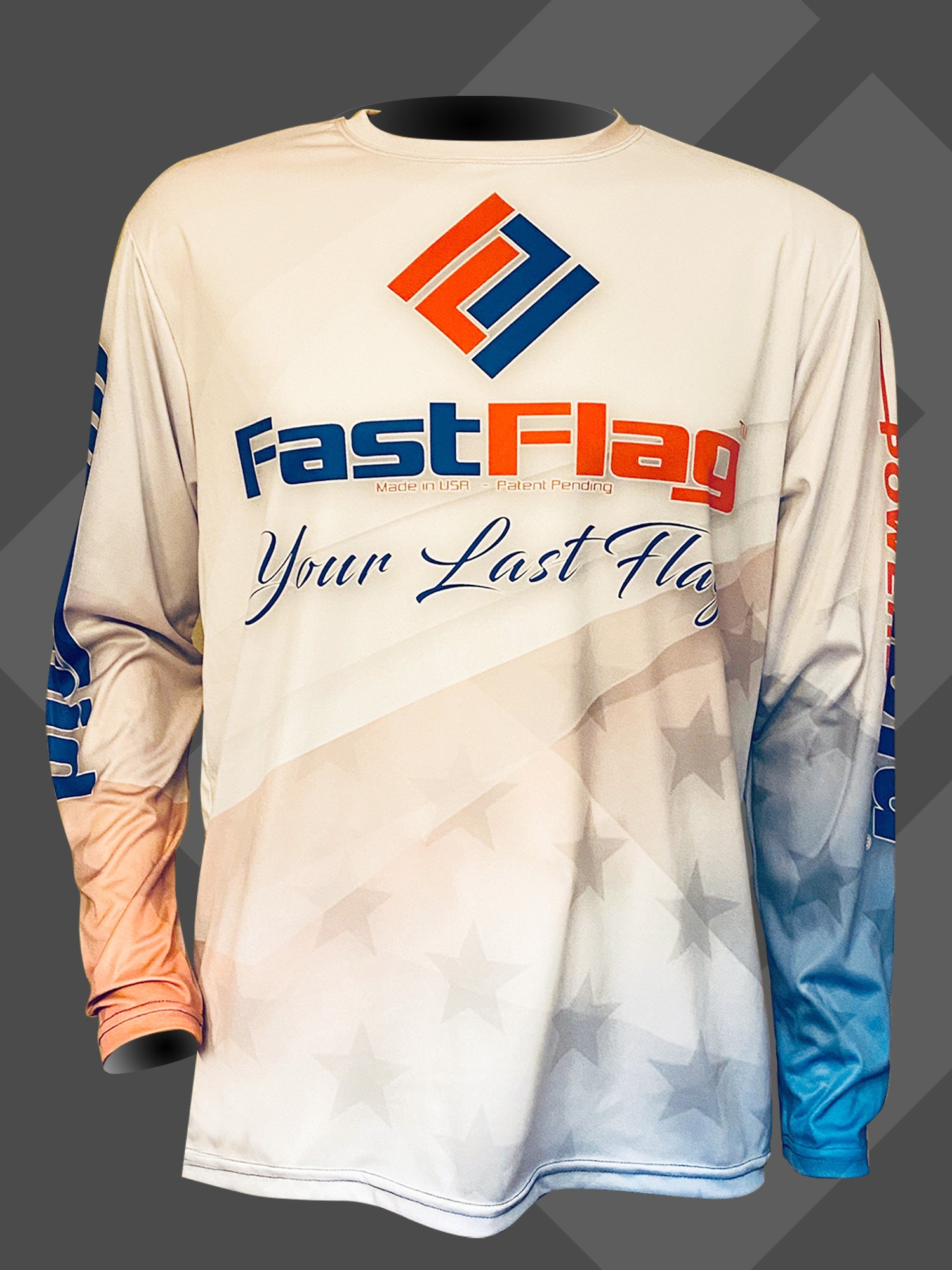 FF RED WHITE AND BLUE LONG SLEEVE SHIRT