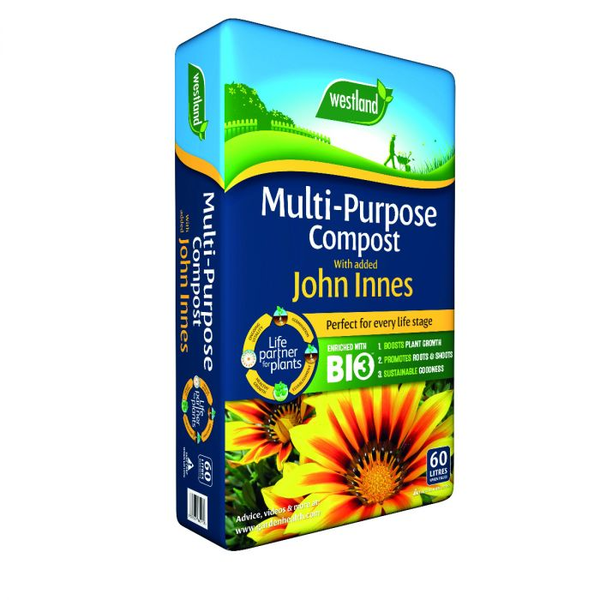 Multi Purpose Compost with John Innes 60L - 3 FOR £18