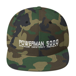 Invade, Destroy, Repeat Snapback Hat - Official Powerman 5000 Merch