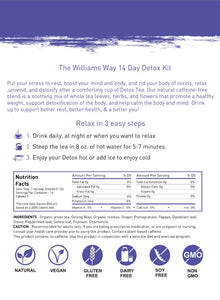 The Williams Way 28 Day Detox Kit