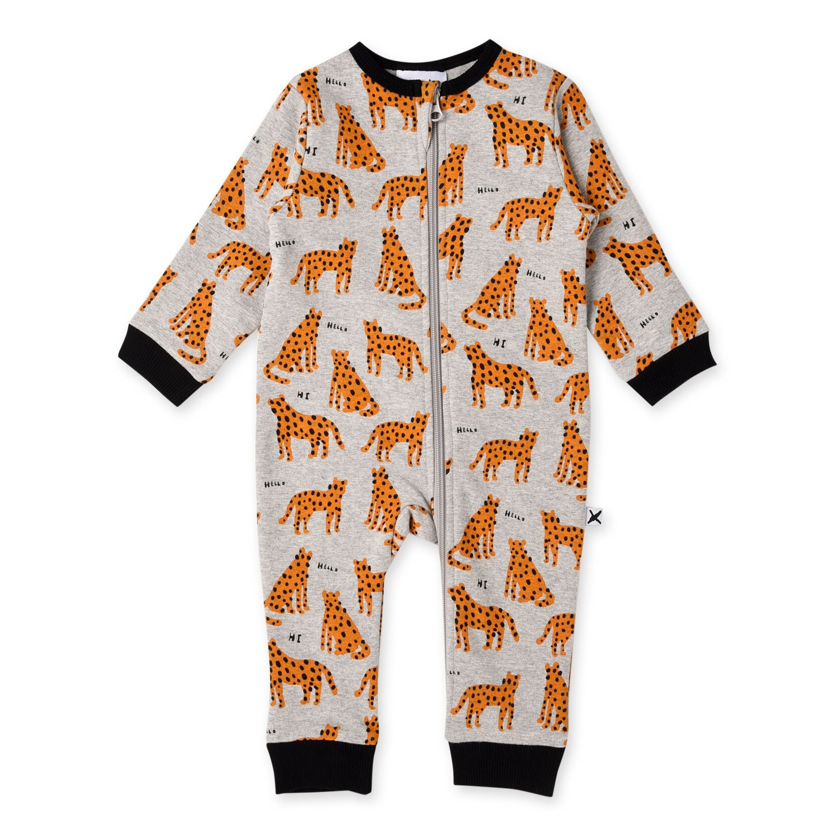 Friendly Cheetahs Furry Zippy Suit | Grey Marle