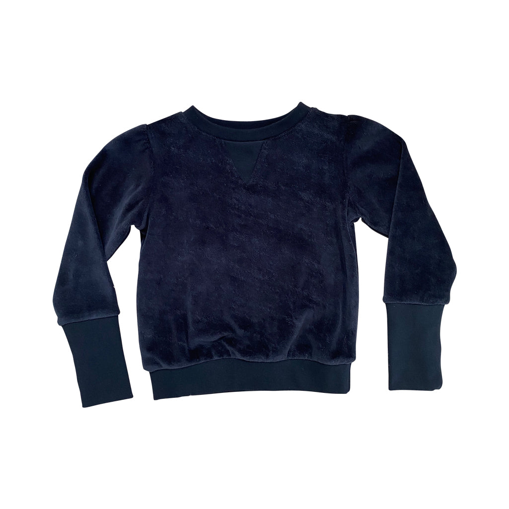 Tory Velour Sweater | Black