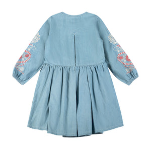 Pleated Dress Folk Embroidery
