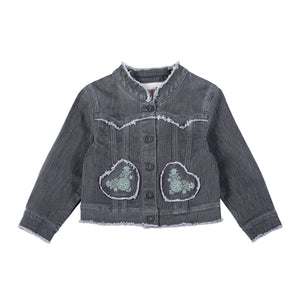 Denim Jacket Folk Embroidery