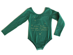 Leotard Star Gazer | Deep Green