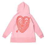 Load image into Gallery viewer, Hearts On Hearts Furry Zip Up | Muted Pink