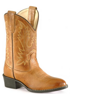 Leather Cowgirl Boots | Tan