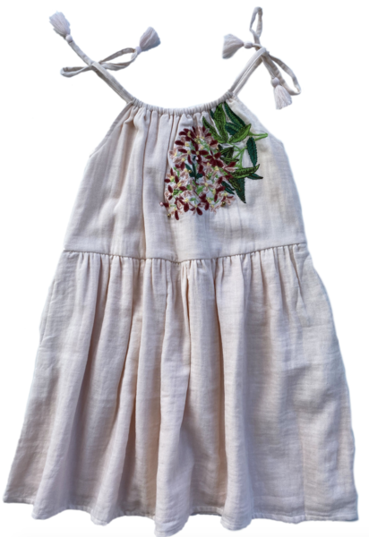 Noel dress embroidery - sugarplum