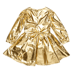 Load image into Gallery viewer, Metallic Gold Mad Men Dress